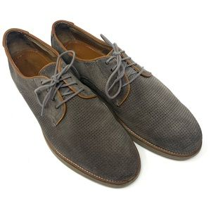 Johnston & Murphy 20-3459 Gray lace up loafers